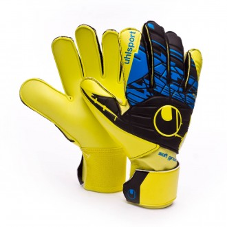 Luvas  Uhlsport Eliminator Speed Up Soft Pro Lite fluor yellow-Black-Hydro blue