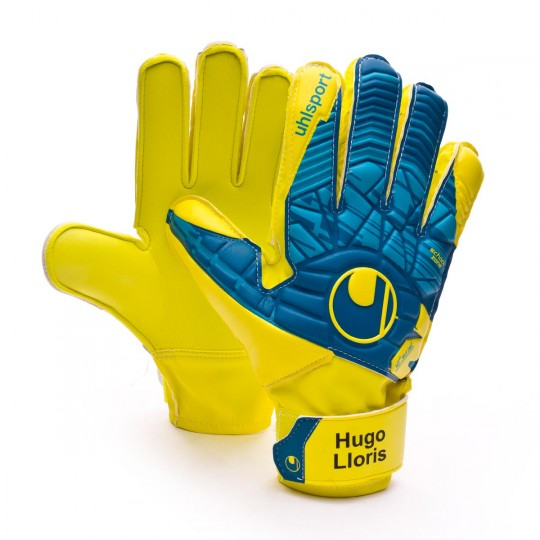 Guante  Uhlsport Eliminator Speed Up Soft Advanced Lloris Hydro blue-Lite fluor yellow
