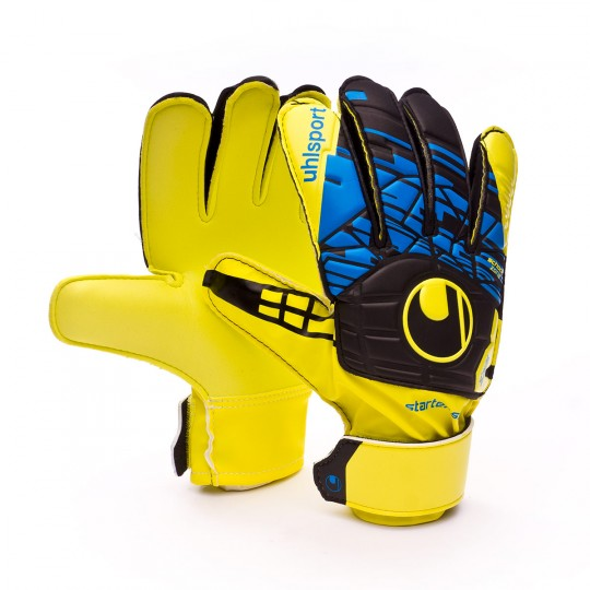 Guante  Uhlsport Eliminator Speed Up Starter Soft Lite fluor yellow-Black-Hydro blue