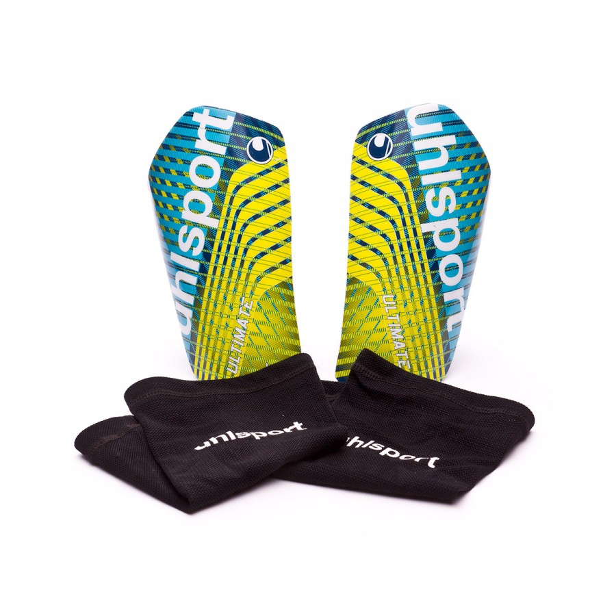 8798af96dbd Shinpads Uhlsport Ultimate Navy-Yellow-White-Cyan - Football store ...