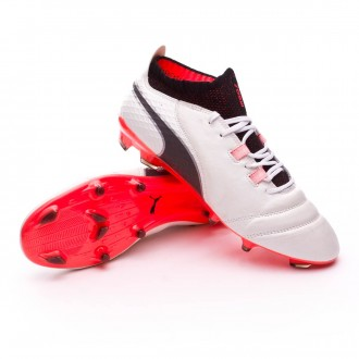 Puma ONE 17.1 FG Puma white-Puma black-Fiery coral