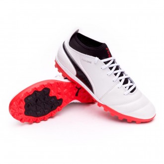 Zapatilla  Puma ONE 17.3 Turf Puma white-Puma black-Fiery coral