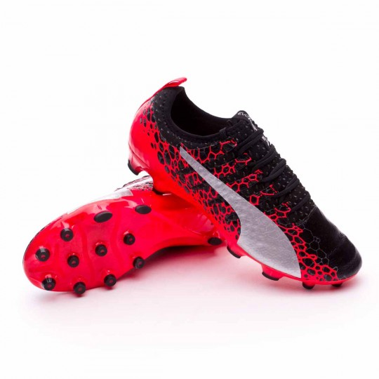 Chuteira  Puma evoPOWER Vigor 1 GRAPHIC AG Puma black-Puma white-Fiery coral