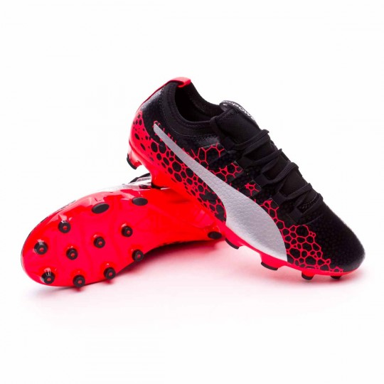 Chuteira  Puma evoPOWER Vigor 3 GRAPHIC AG Puma black-Puma white-Fiery coral