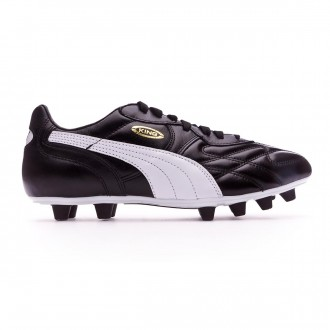 Bota Puma King Top FG Black-White-Team gold