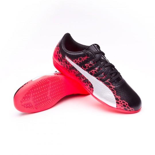 Chaussure de futsal  Puma Jr evoPOWER Vigor 4 GRAPH IT Puma black-Puma white-Fiery coral