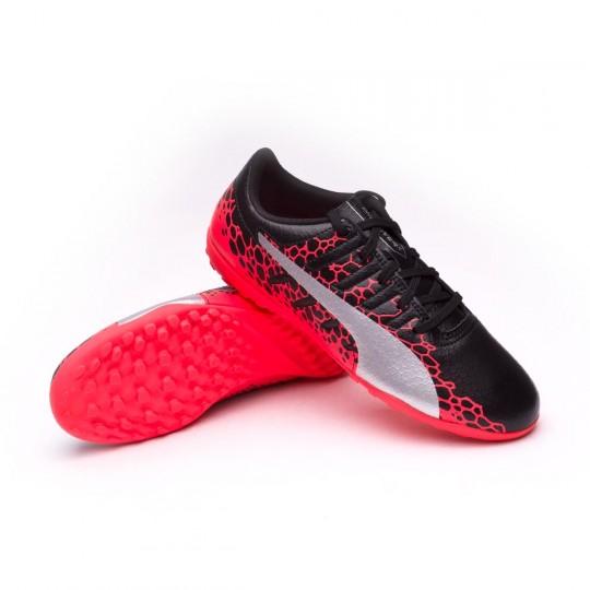 Sapatilha de Futsal  Puma Jr evoPOWER Vigor 4 GRAPH Turf Puma black-Puma white-Fiery coral