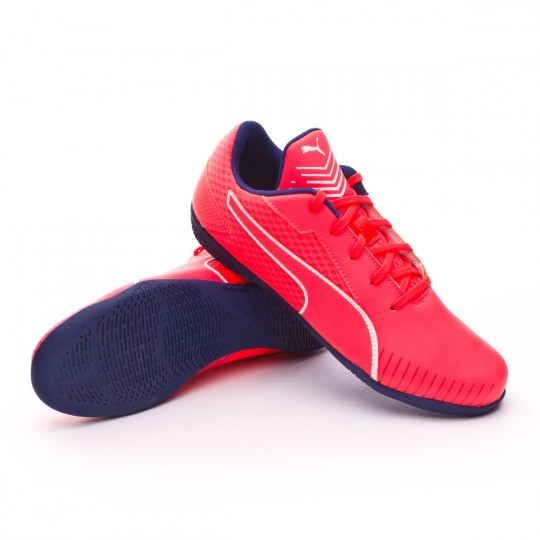 Sapatilha de Futsal  Puma Jr 365 CT Fiery coral-Puma white-Toreador