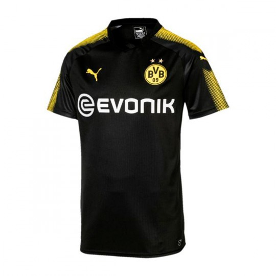 Camiseta  Puma BVB Segunda Equipación 2017-2018 Puma black-Cyber yellow