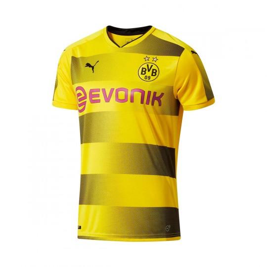 Camiseta  Puma BVB Primera Equipación 2017-2018 Niño Cyber yellow-Puma black