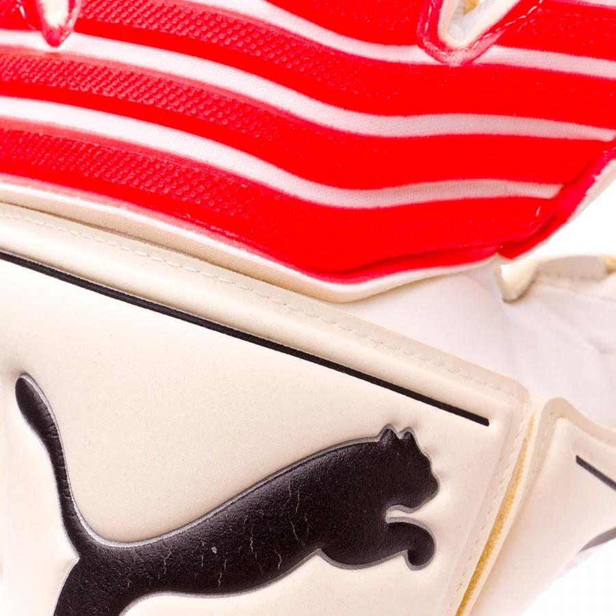 2e87ba4b6ad0 Glove Puma One Grip 17.1 Puma white-Fiery coral-Puma black - Football store  Fútbol Emotion