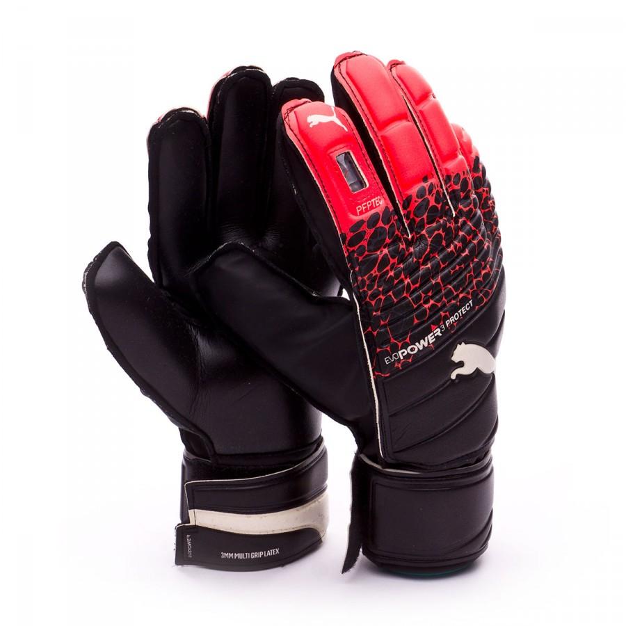 a710b9902 Guanti Puma evoPOWER Protect 3.3 Fiery coral-Puma black-Puma white -  Negozio di calcio Fútbol Emotion