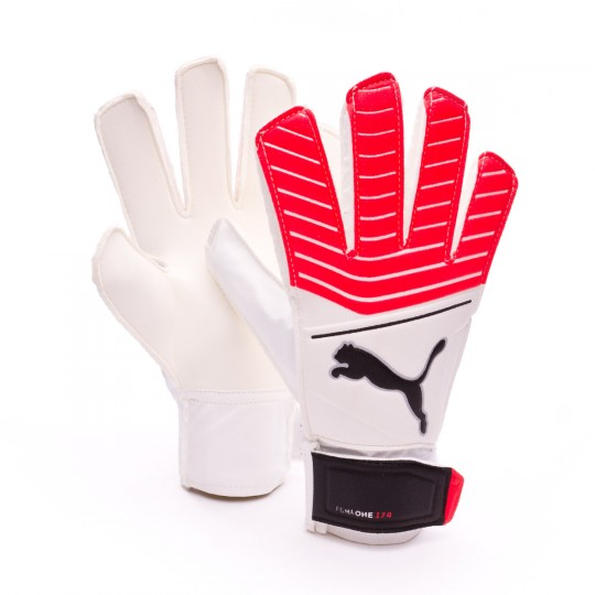 Guanti  Puma Puma One Grip 17.4 Puma white-Fiery coral-Puma black