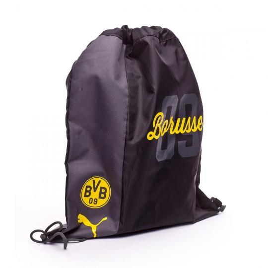 Mochila  Puma BVB Fanwear Gym Sack Cyber yellow-Puma black
