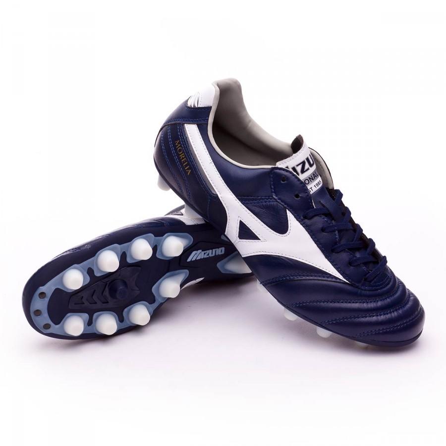 online store 7229b 4ea2f Mizuno Morelia II MD Football Boots. Peacoat-White-Silver ...