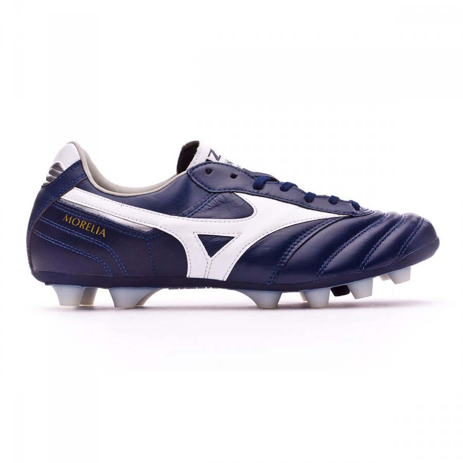 separation shoes 0e969 4bd13 Football Boots Mizuno Morelia II MD Peacoat-White-Silver - Tienda de fútbol  Fútbol Emotion