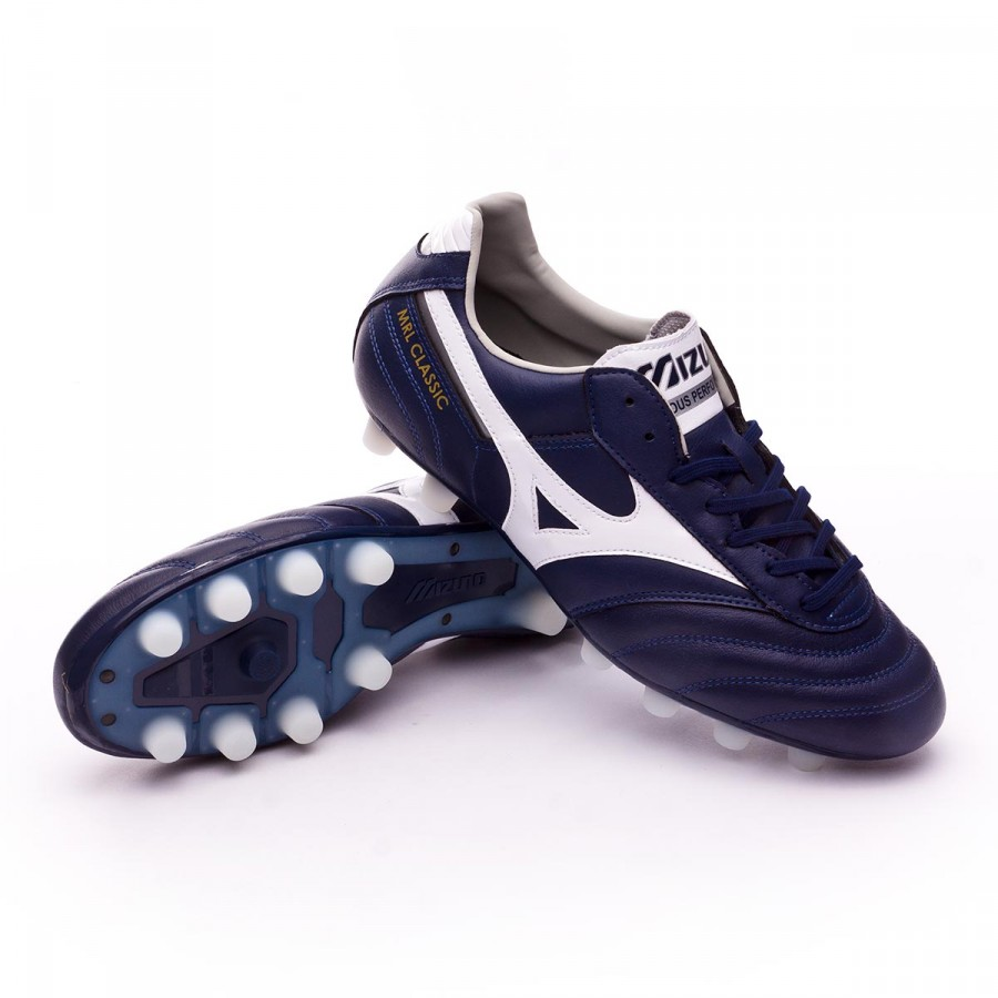 Boot Mizuno MRL Classic MD Peacoat-White-Silver - Football store ... e8a88a423c596
