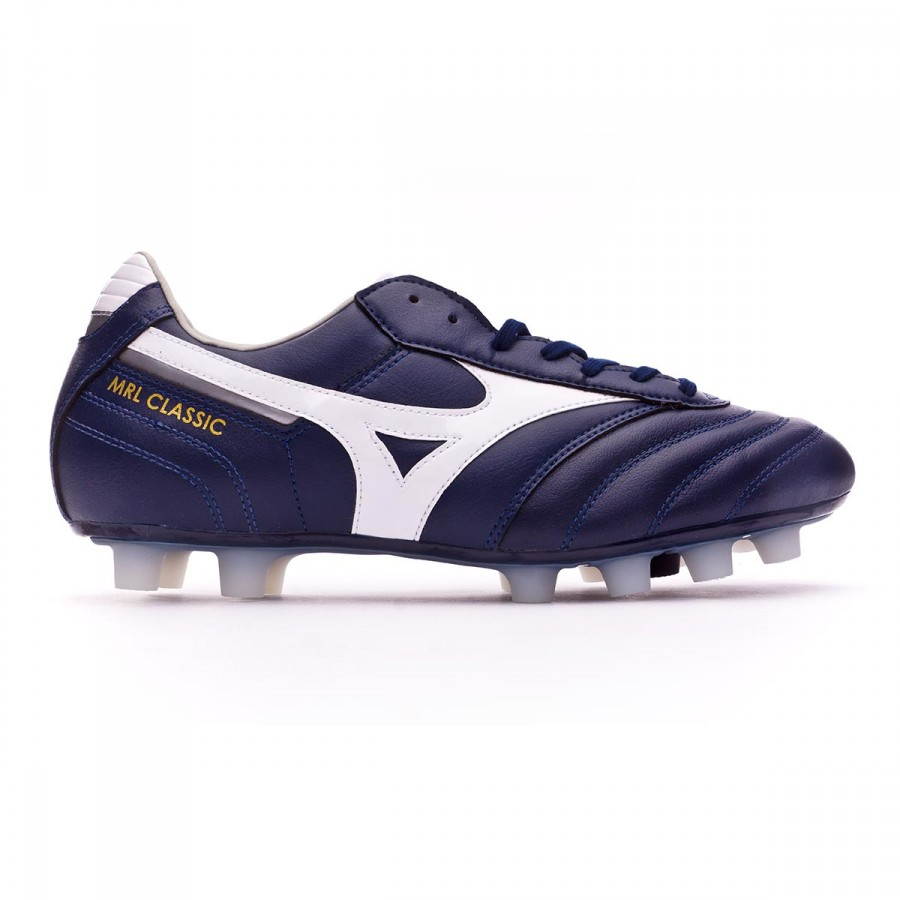 Boot Mizuno MRL Classic MD Peacoat-White-Silver - Football store Fútbol  Emotion 200316f04fcfe