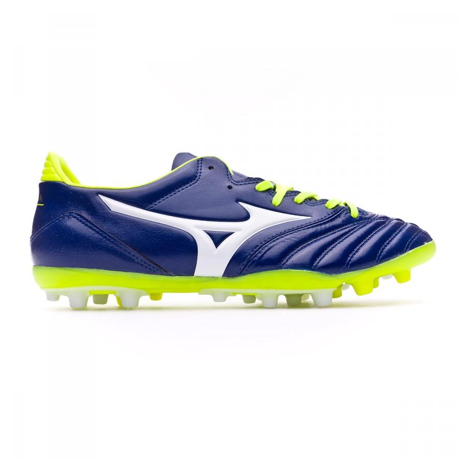 177aa2b5ed23 Football Boots Mizuno Morelia NEO KL AG Blue print-White-Safety yellow -  Tienda de fútbol Fútbol Emotion