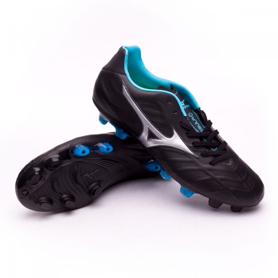 882211d6fa8f1 Zapatos de fútbol Mizuno Rebula V2 Black-Sliver-Blue atoll - Tienda de fútbol  Fútbol Emotion