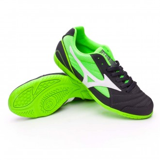 Sapatilha de Futsal  Mizuno Sala Club 2 IN Dark shadow-White-Green gecko