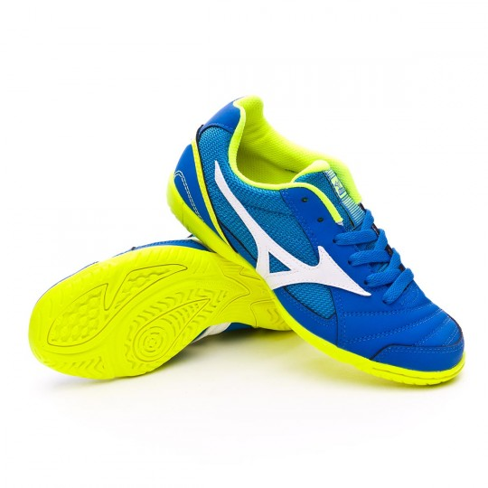 Chaussure de futsal  Mizuno Sala Club 2 IN Imperial blue-White-Safety yellow