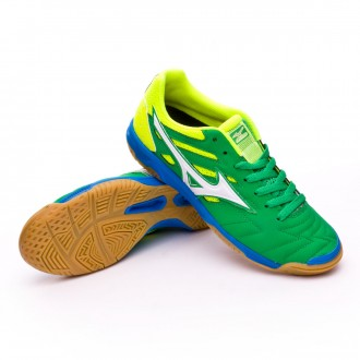 Sapatilha de Futsal  Mizuno Sala Classic 2 IN Bright green-White-Safety yellow