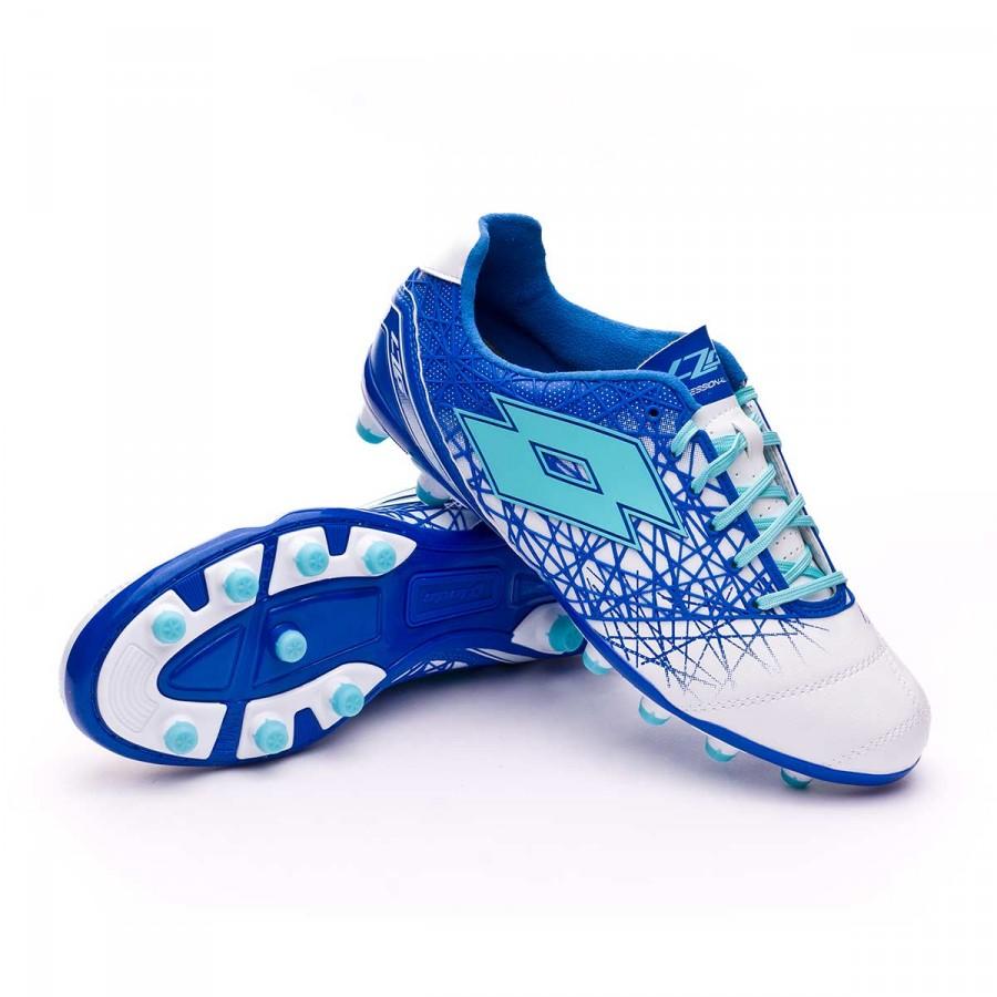 Bota de fútbol Lotto Zhero Gravity 200 IX FG White-Blue ski - Leaked soccer 26e6740e235f8