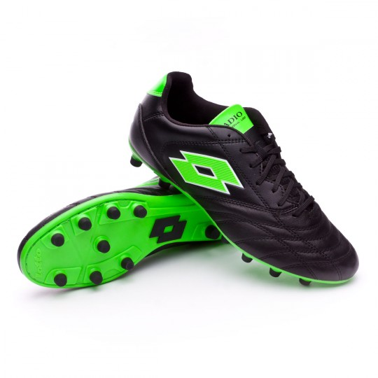 Chuteira  Lotto Stadio 200 FG Black-Mint fluor