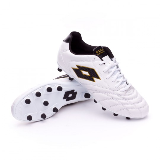 Chuteira  Lotto Stadio 200 FG White-Gold star