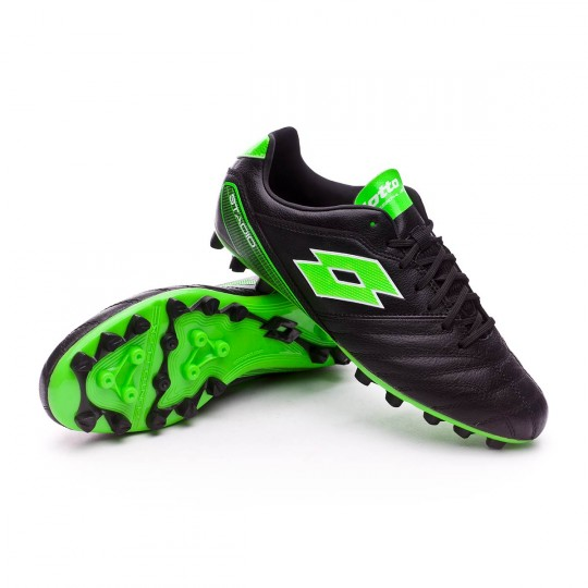 Chuteira  Lotto Stadio 300 H28 Black-Mint fluor