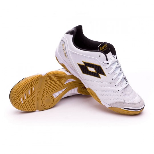 Sapatilha de Futsal  Lotto Stadio 300 ID White-Gold star