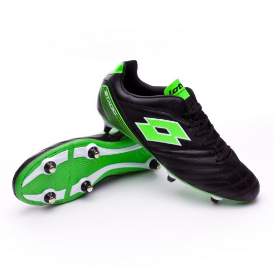 Chuteira  Lotto Stadio 300 SG6 Black-Mint fluor