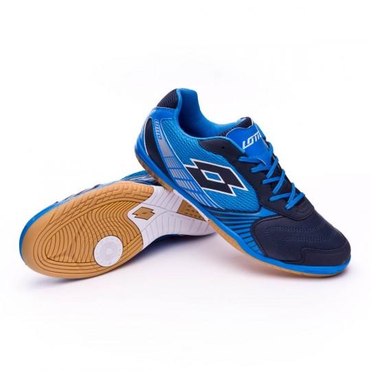 Chaussure de futsal  Lotto Tacto II 500 Blue aviator-Blue atlantic