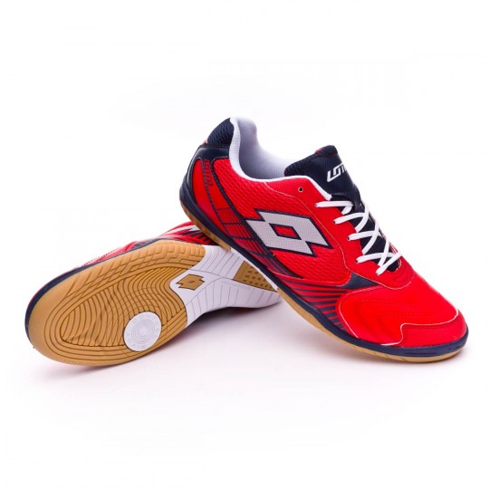 Chaussure de futsal  Lotto Tacto II 500 Red reef-Silver metal