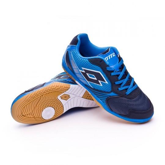 Chaussure de futsal  Lotto Jr Tacto II 500 Blue aviator-Blue atlantic