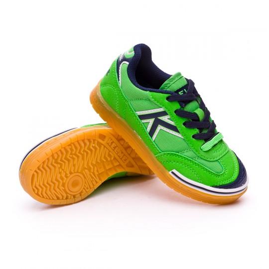 Sapatilha de Futsal  Kelme Jr Trueno Sala Verde eléctrico