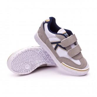 Boot  Kelme Trueno Sala Velcro Kids White-Blue