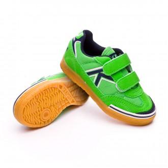 Boot  Kelme Trueno Sala Velcro Kids Verde eléctrico