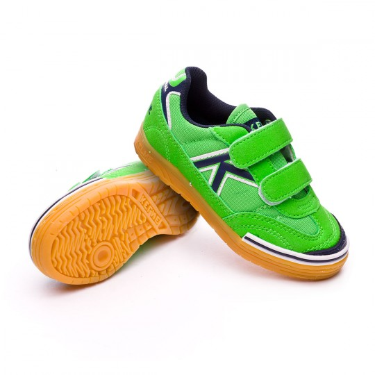 Sapatilha de Futsal  Kelme Jr Trueno Sala Velcro Verde eléctrico
