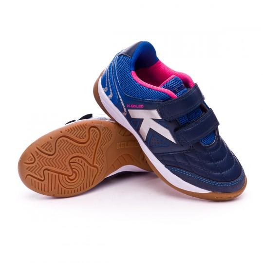 Chaussure de futsal  Kelme Jr K-Golea Indoor Velcro Indigo