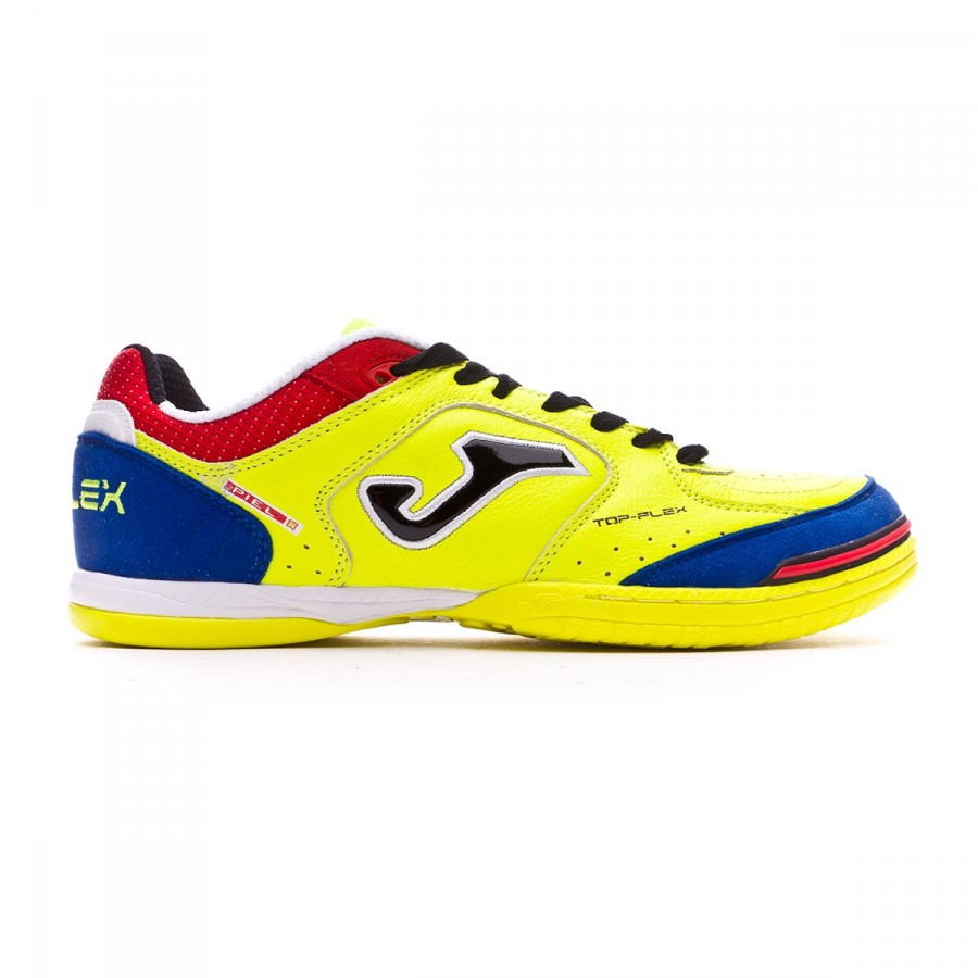 Zapatilla de fútbol sala Top Flex Yellow-Blue Talla 10,5 USA