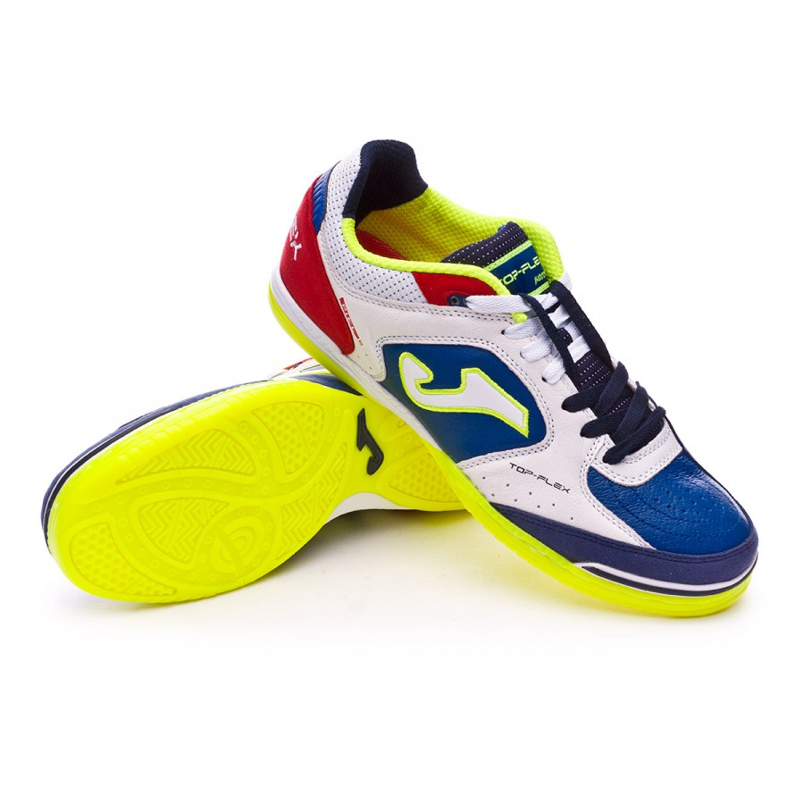 32785814f65ea Futsal Boot Joma Top Flex White-Blue-Red - Football store Fútbol Emotion