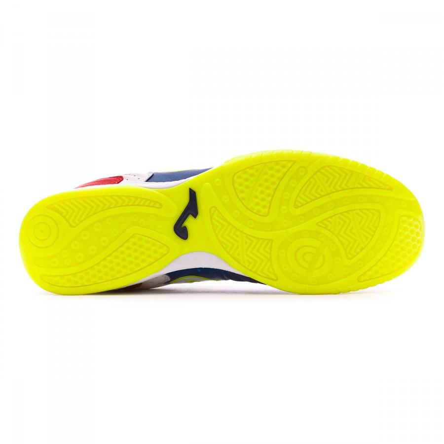 3de6cfe31b4 Futsal Boot Joma Top Flex White-Blue-Red - Tienda de fútbol Fútbol Emotion