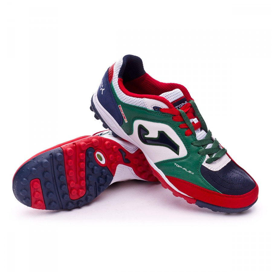 bb527fe7dab1 Football Boot Joma Top Flex Turf White-Green-Blue - Football store ...