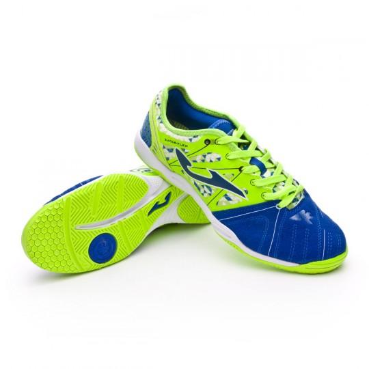 Chaussure de futsal  Joma Super Flex Blue-Green