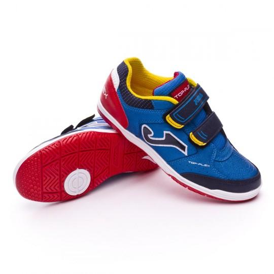 Chaussure de futsal  Joma Jr Top Flex Blue