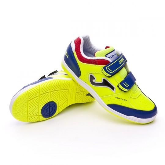 Sapatilha de Futsal  Joma Jr Top Flex Solar yellow