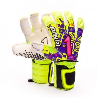 Glove  Rinat Asimetrik Etnik Spine Pro Purple-Amarillo lima
