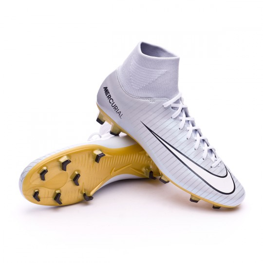 Bota  Nike Mercurial Victory DF CR7 SE FG White-Metallic gold